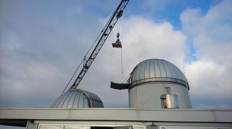 Telescope mount arrives in Nijmegen